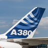 Airbus A380 on Airport Bremen